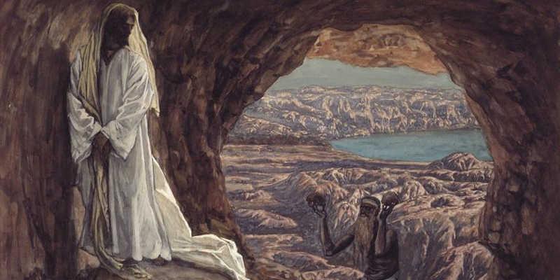 Tissot Jesus Tempted in the Wilderness medium